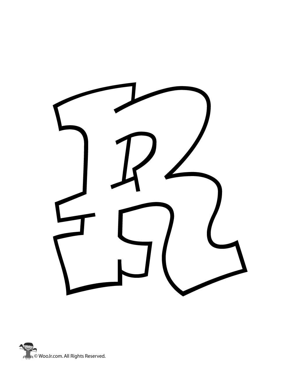 Graffiti capital letter r woo jr kids activities