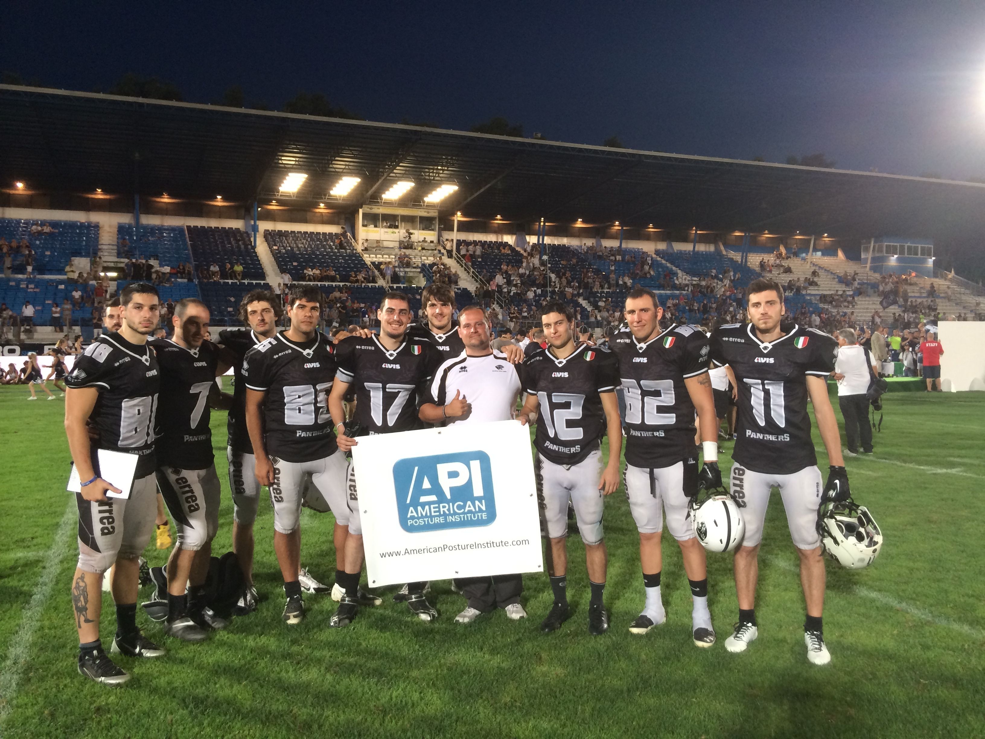 This team supports API's #FITPosture program for helping them to an undefeated 10 - 0 regular season finish! #Posture