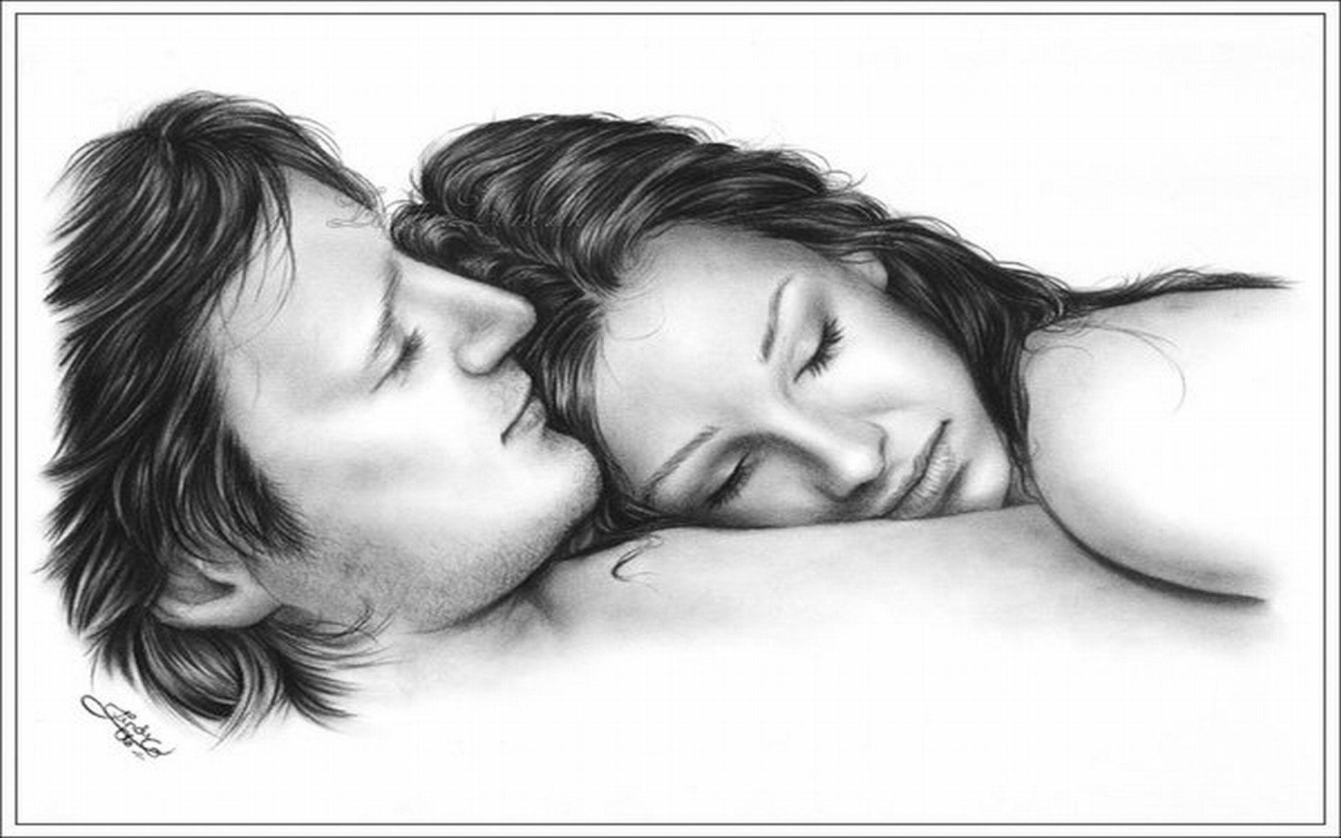 Romantic Sketch Wallpaper Romantic Sad Couple Wallpapers