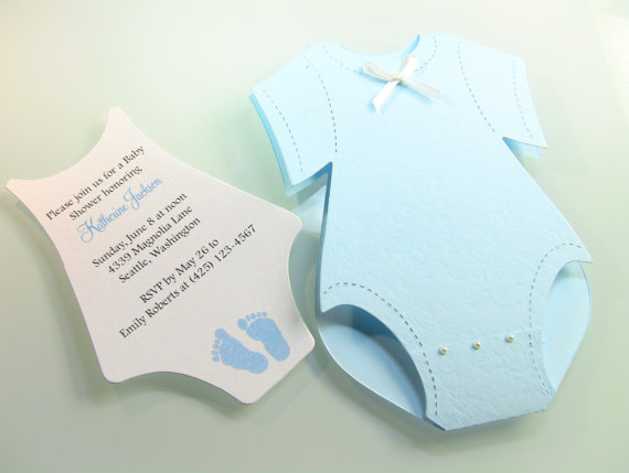 Customize Any Color  Onesie Baby Shower Invitation By Zucards