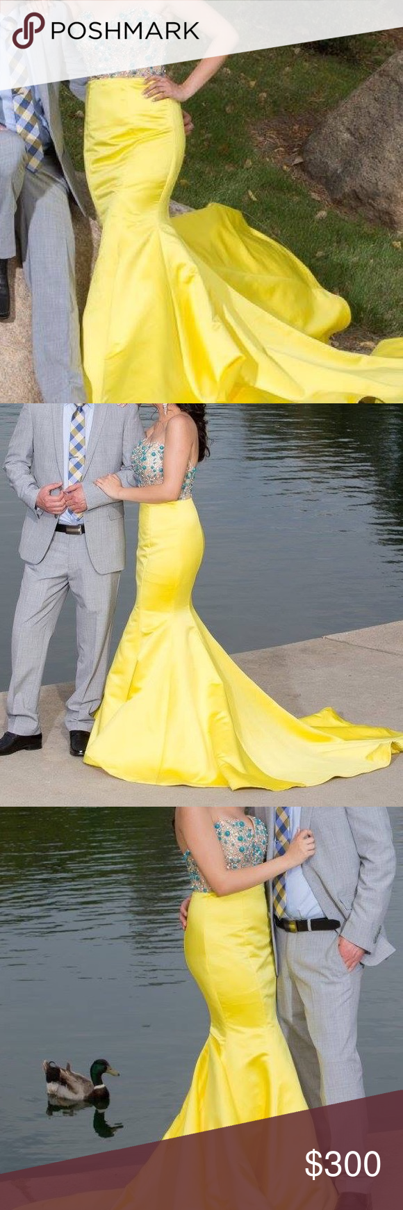 Yellow maxi gown in my posh picks pinterest