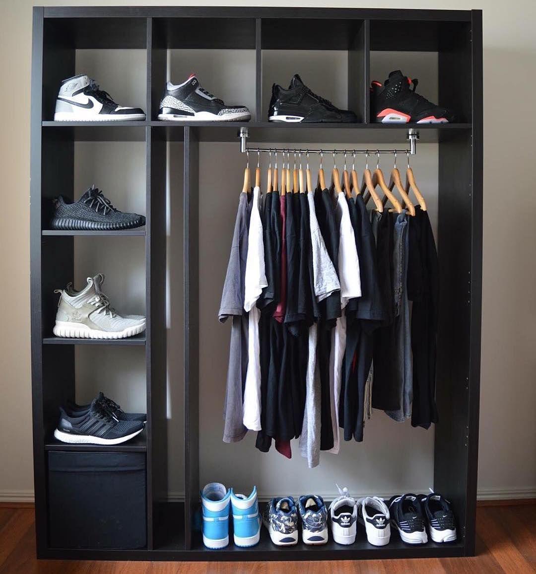 4 Sneaker/clothing setup ideas  sneakerhead room, hypebeast room