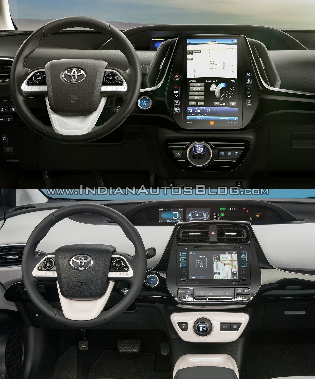 Toyota Prius Prime Interior Vs. 2016 Toyota Prius Interior