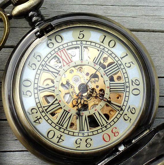 Alice au pays des merveilles Steampunk poche montre pendentif clé charme collier médaillon