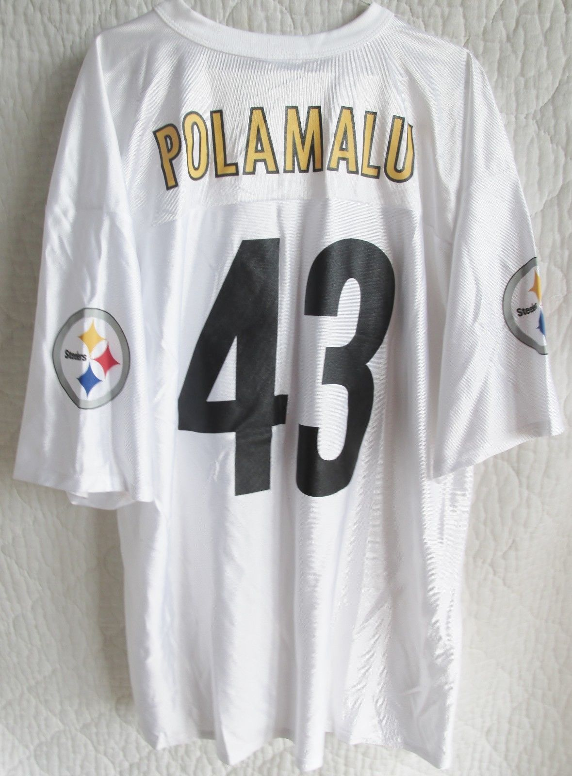 Pittsburgh Steelers Troy Polamalu Jersey Official NFL Team Apparel White New  Tag  db00e0c03