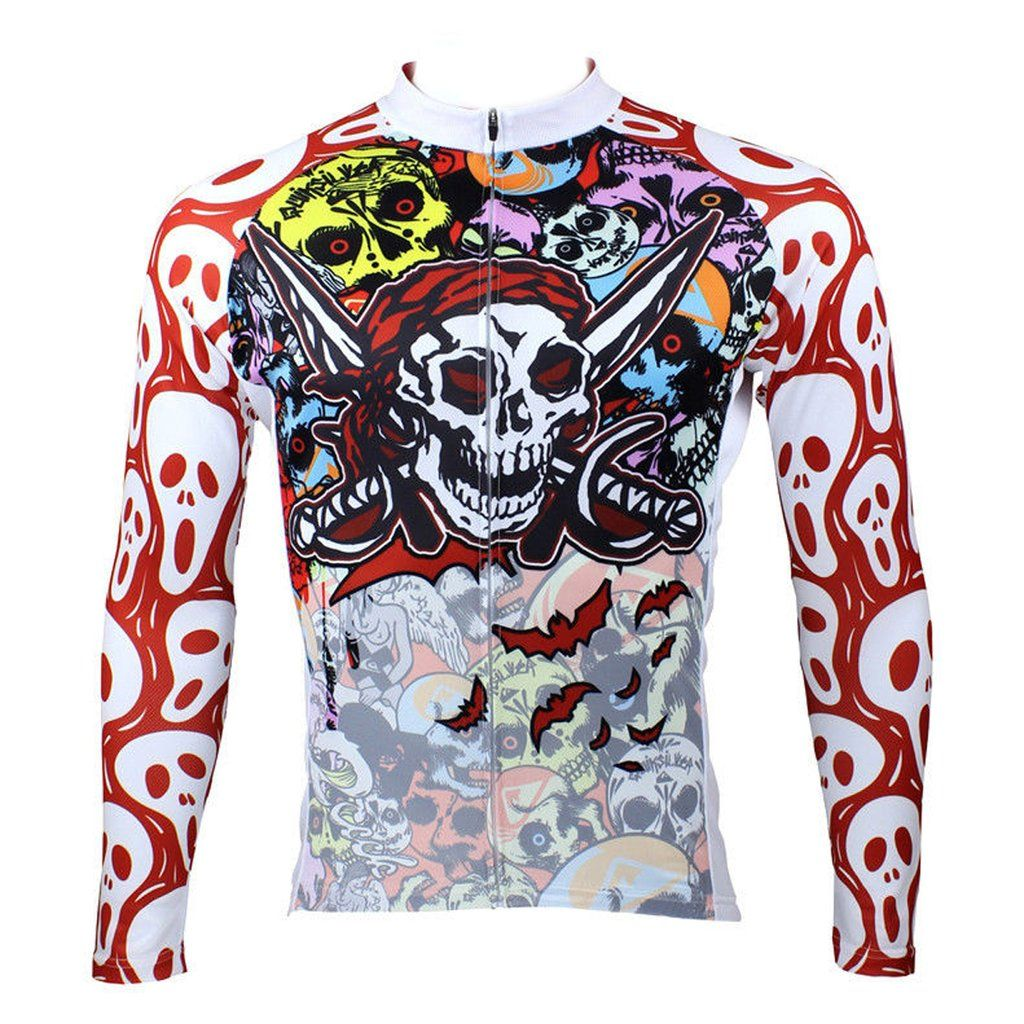 ILPALADINO Skull Men s Long Sleeves Cycling Jersey Pro Cycle Clothing  Racing Apparel Outdoor Sports Leisure Biking T-shirt Spring Autumn 088 4fe2860bb
