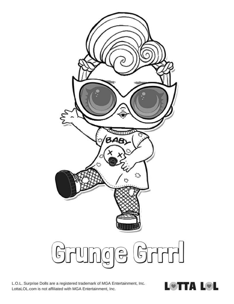 Grunge Grrrl Coloring Page Lotta Lol Kids Printable Coloring Pages Owl Coloring Pages Cartoon Coloring Pages