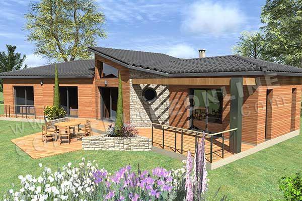 plan de maison plain pied moderne ENJOY piscine2_1   Villas ...