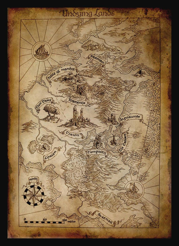 Map of Aman by amegusa | Tattoos in 2019 | Tolkien map, Middle