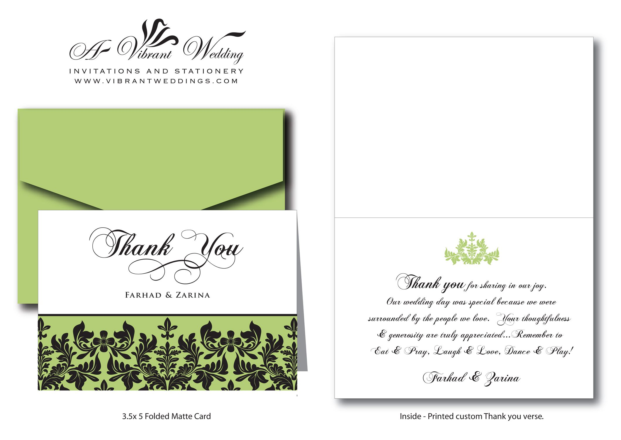 Wedding thank you cards verbiage