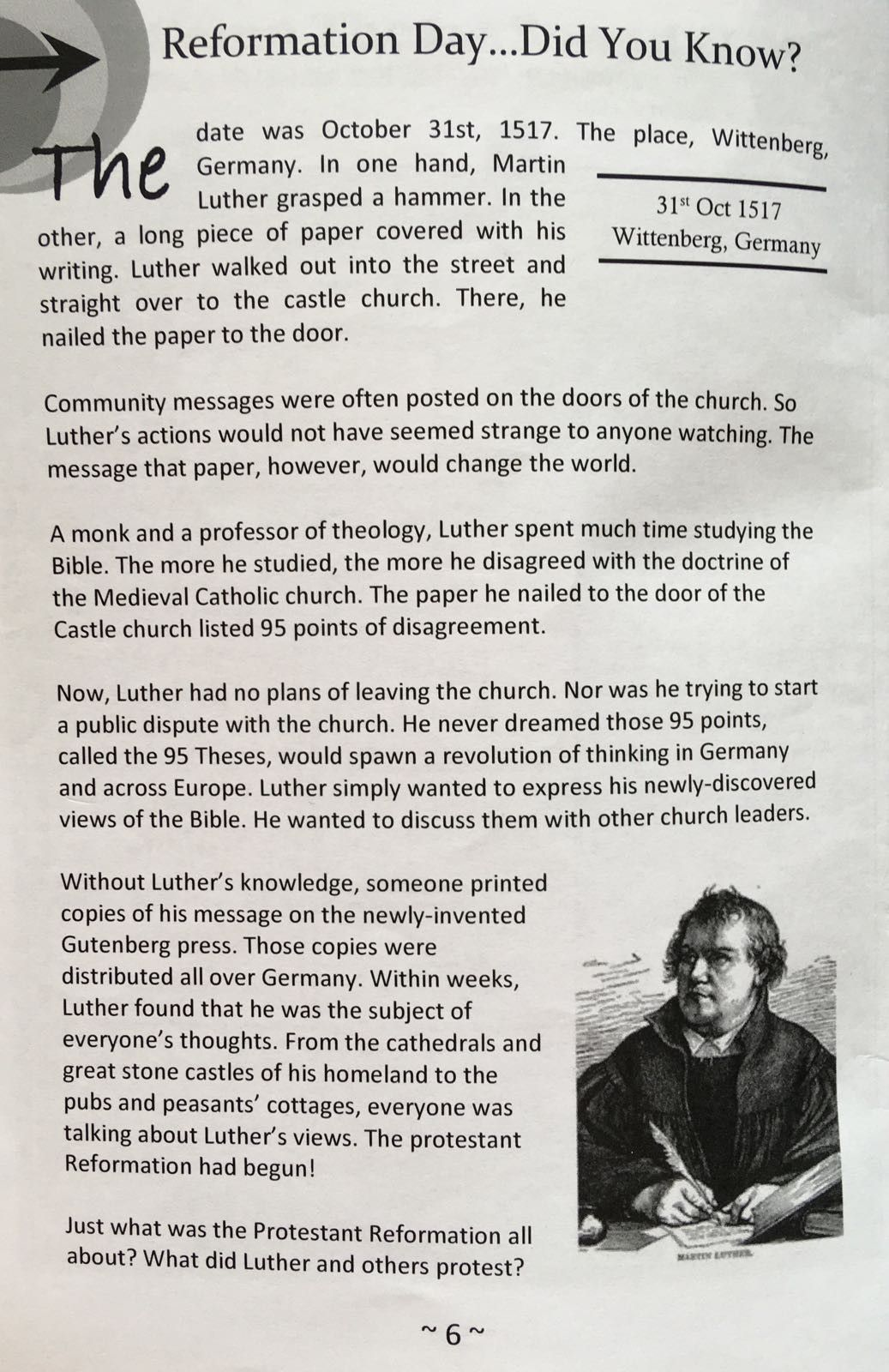 Worksheet Martin Luther 95 Theses Worksheet Carlos Lomas Worksheet