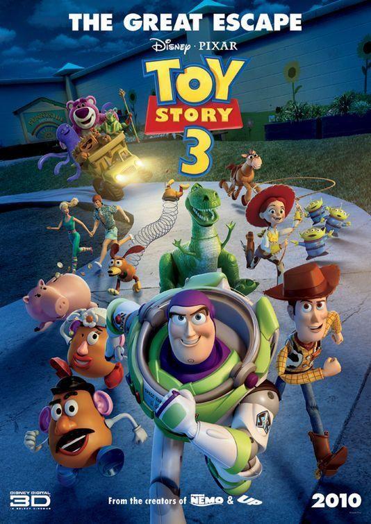 Cuando su dueño Andy se prepara para ir a la universidad, el vaquero Woody, el astronauta Buzz y el resto de sus amigos juguetes comienzan a preocuparse por su incierto futuro. Efectivamente todos acaban en una guardería, donde por ejemplo la muñeca Barbie conocerá al guapo Ken. Esta reunión de nuestros amigos con otros nuevos juguetes no será sino el principio de una serie de trepidantes y divertidas aventuras.
