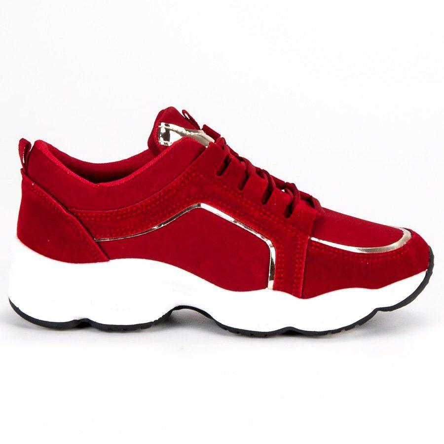Zamszowe Buty Sportowe Vices Czerwone Sneakers Rubber Shoes Shoes