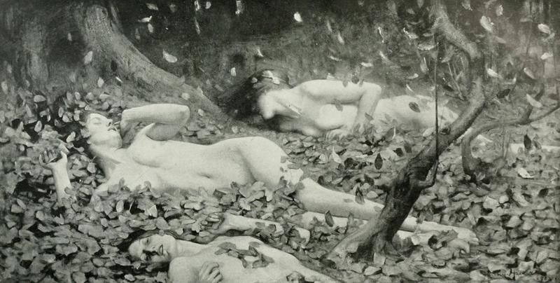 File:Arthur Hacker - Leaf Drift - 1919.png