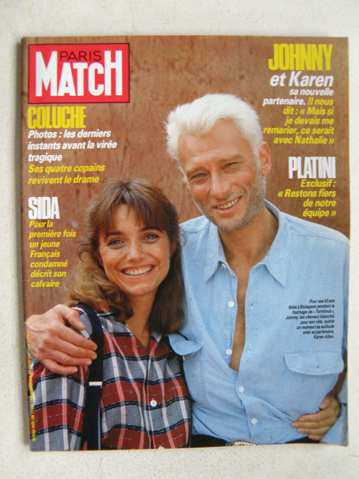 karen allen et johnny hallyday femmes en couvertures de paris match pinterest. Black Bedroom Furniture Sets. Home Design Ideas