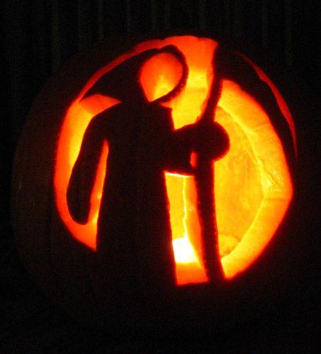 pumpkin template grim reaper  Grim reaper jack-o-lantern in 7 | Pumpkin carving ...