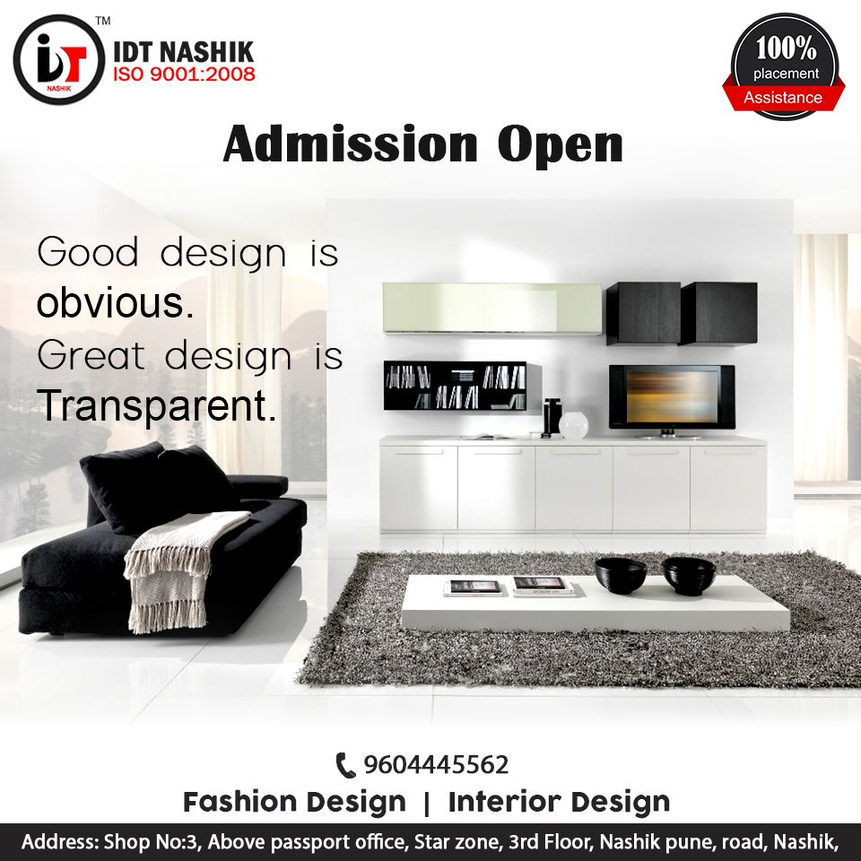 We Are Idt Nashik An Interior Designing Institute In Nashik