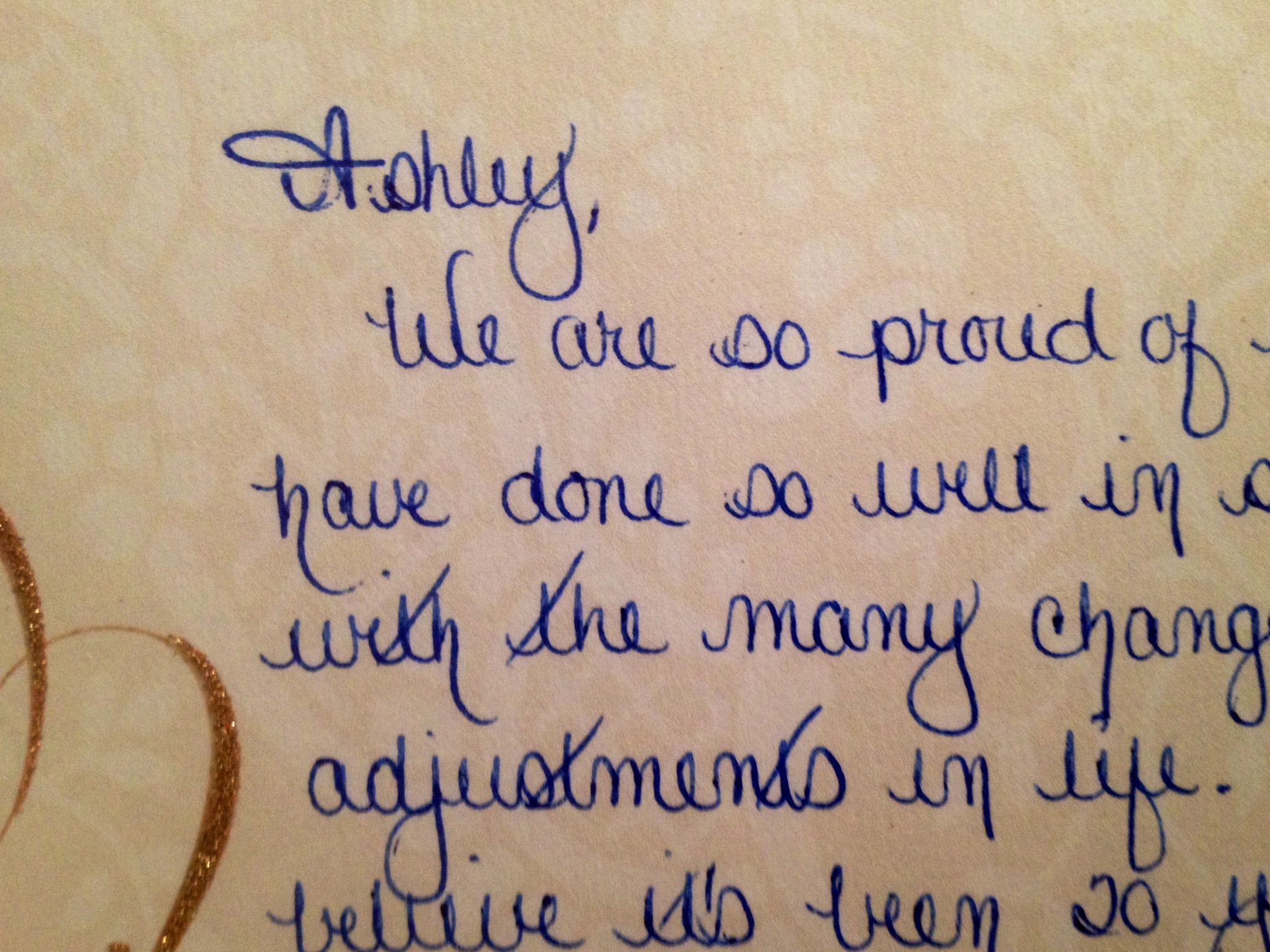 My Girlfriend S Mom S Handwriting Is Ridiculous This Is How She Always Writes