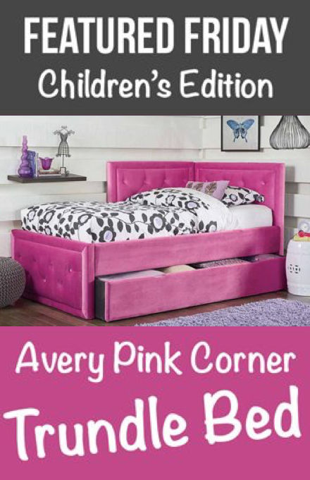 Get pretty in pink with this adorable #FeaturedFriday trundle bed ...