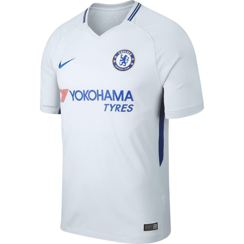 the latest c3f5f 88f7e Chelsea Nike 2017/18 Away Replica Blank Jersey - Gray ...
