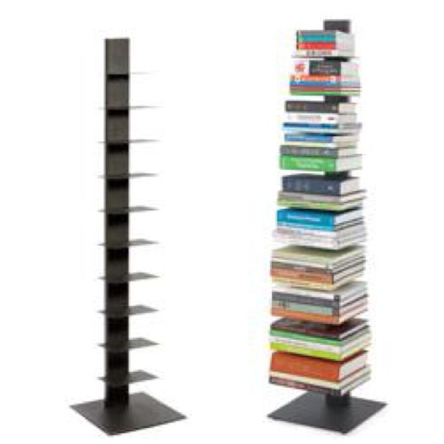 Vertical Bookshelf The Container Dark Grey Sapien Bookcase
