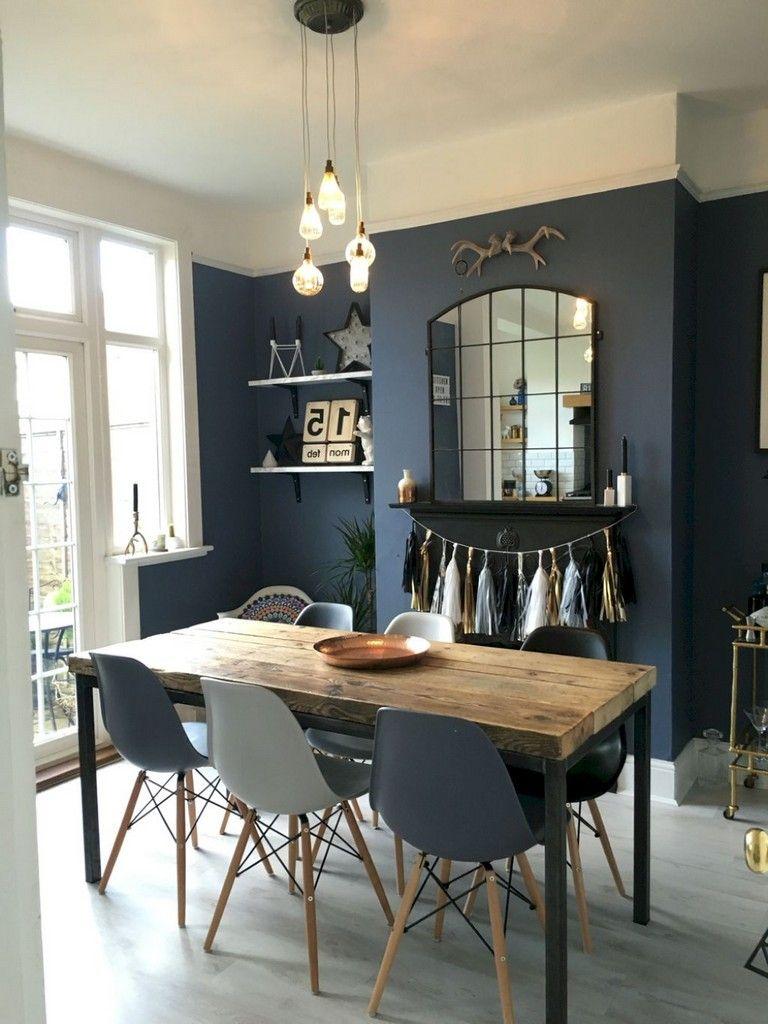 75 Lovely Dining Room Ideas Dining Room Blue Dining Room Colors Dining Room Design