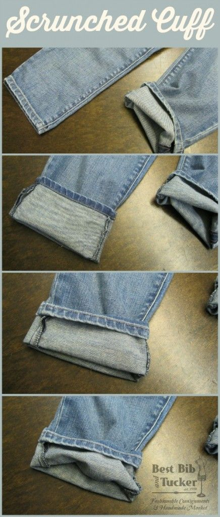 How To Hem Pants With A Cuff What To Wear Wednesday 5 Ways To Cuff Your Jeans How To Fold Jeans Jeans How To Fold Pants