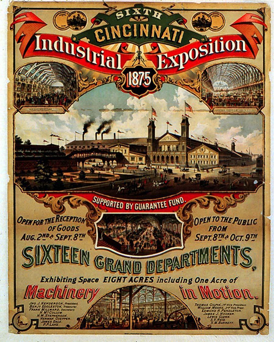 1875 CINCINNATI INDUSTRIAL EXPOSITION | Vintage ...