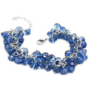 blue translucent beaded bracelet - also have this in clear white