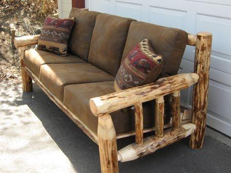 Skip Peeled Pine Log Sofa Furniture Adirondack Furniture Old Wood Projects