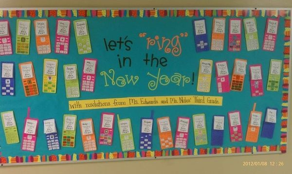 Classroom Ideas For New Years : Finally finished our new year s resolution cell phones