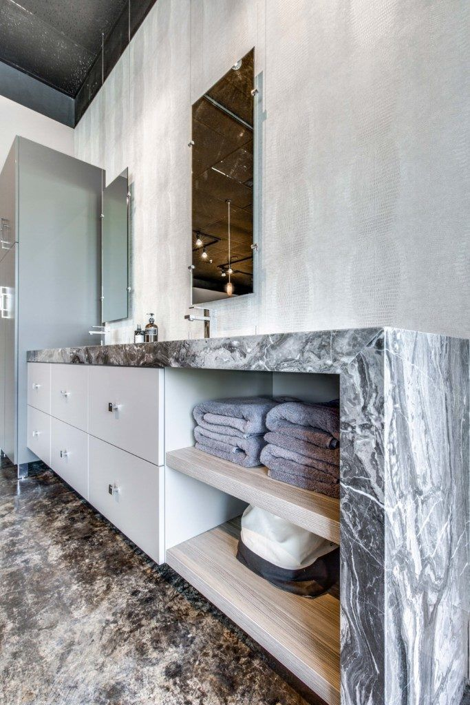 Arabescato Gris Marble Bathroom | Stone gallery, Marbles and Natural ...