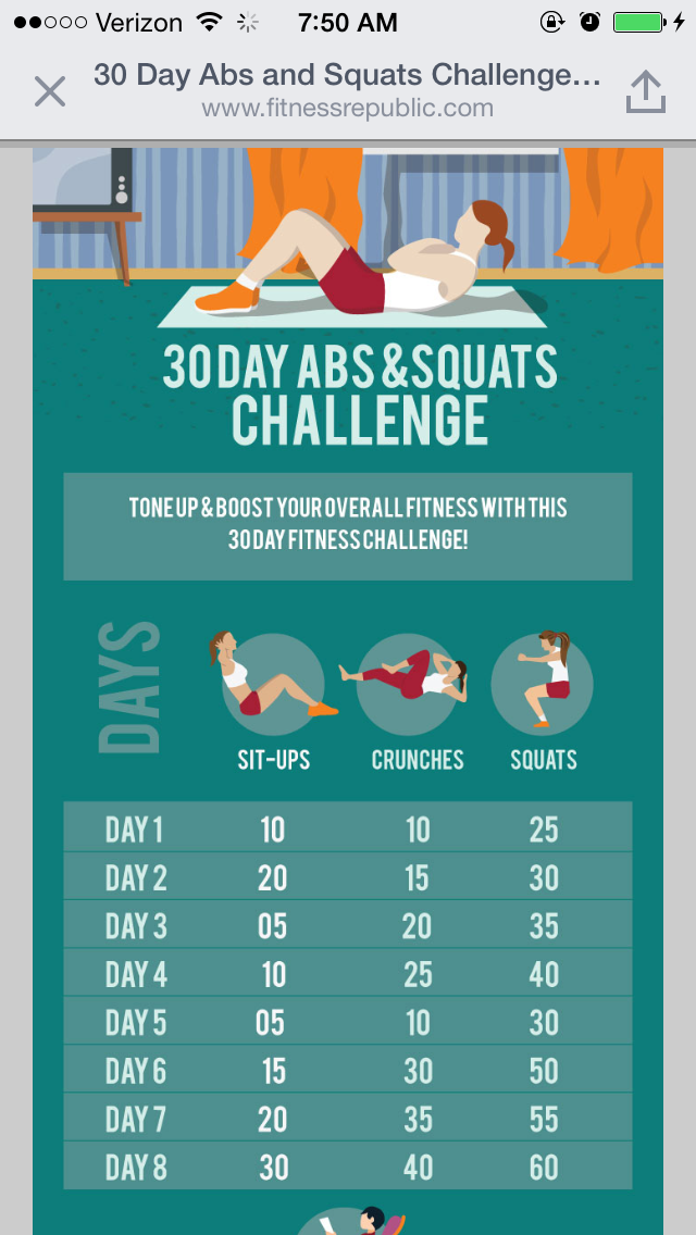 30 DAY ABS AND SQUATS CHALLENGE - Body-Workouts
