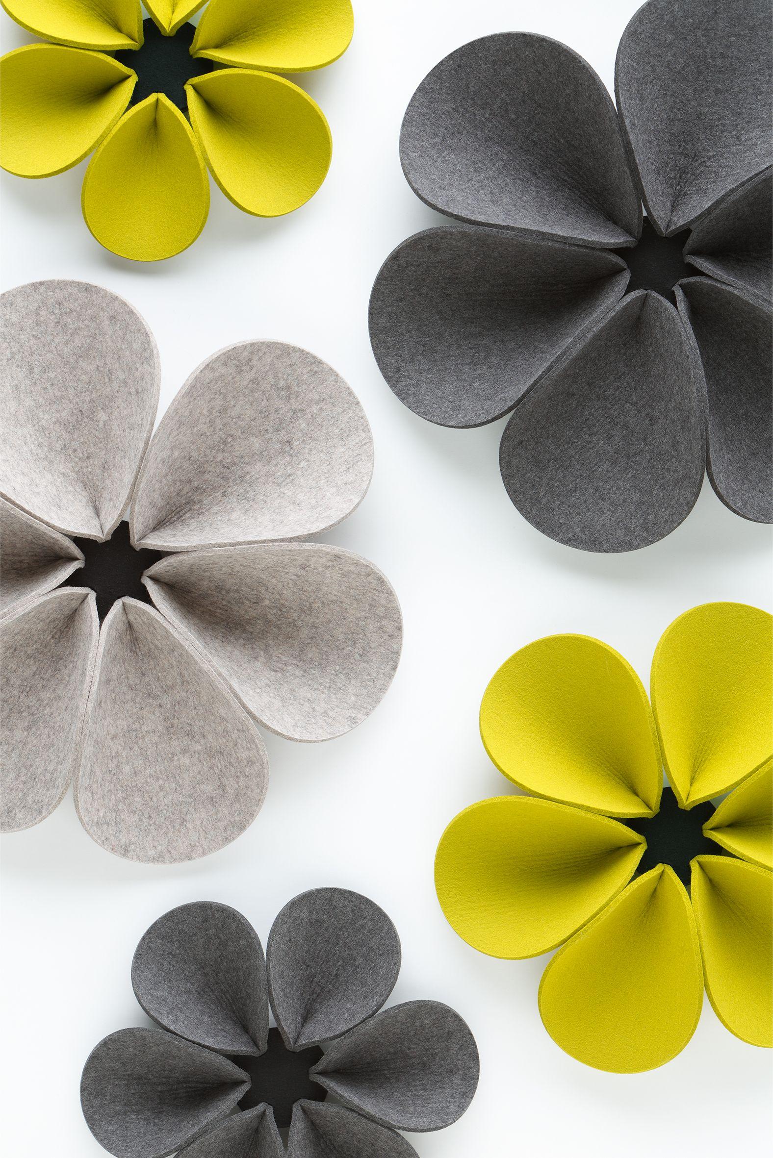 Felt decorative acoustical panels silent flower by hey sign wall decor design ideas - Schallschutz gardinen ...