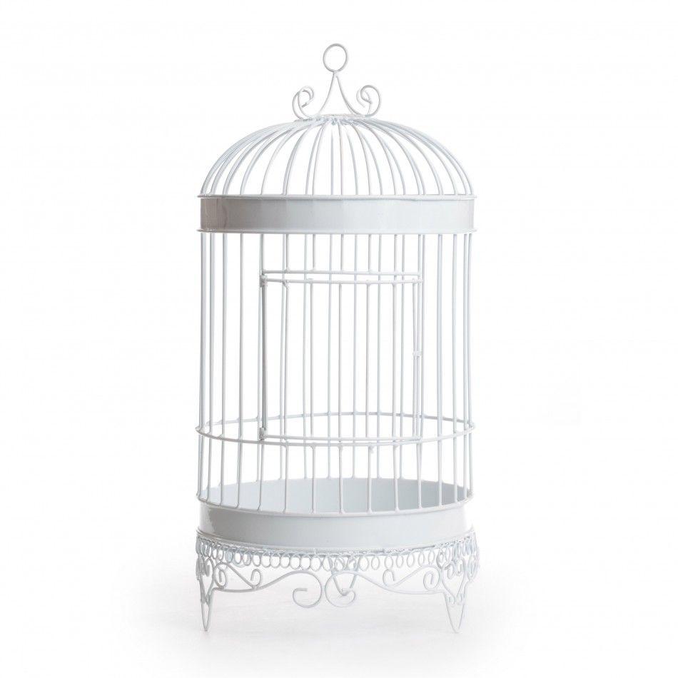 Elegant Large Bird Cage Money / Card Box - White (BEST SELLER!) [EW ...