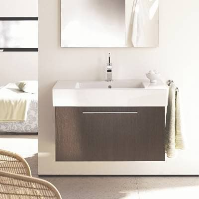 Exceptional Duravit FO957 Fogo Wall Mount Bathroom Vanity | The Mine Ideas