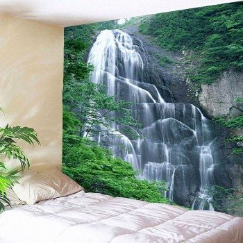 Waterproof Hanging Wall Decor Waterfall Printed Tapestry