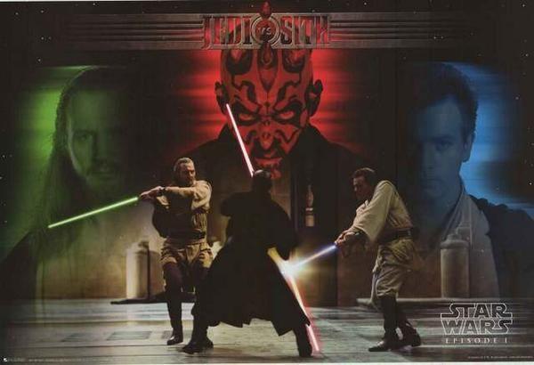 Star Wars Phantom Menace Jedi Vs Sith Poster 24x36 Star Wars Wallpaper Star Wars Geek Star Wars