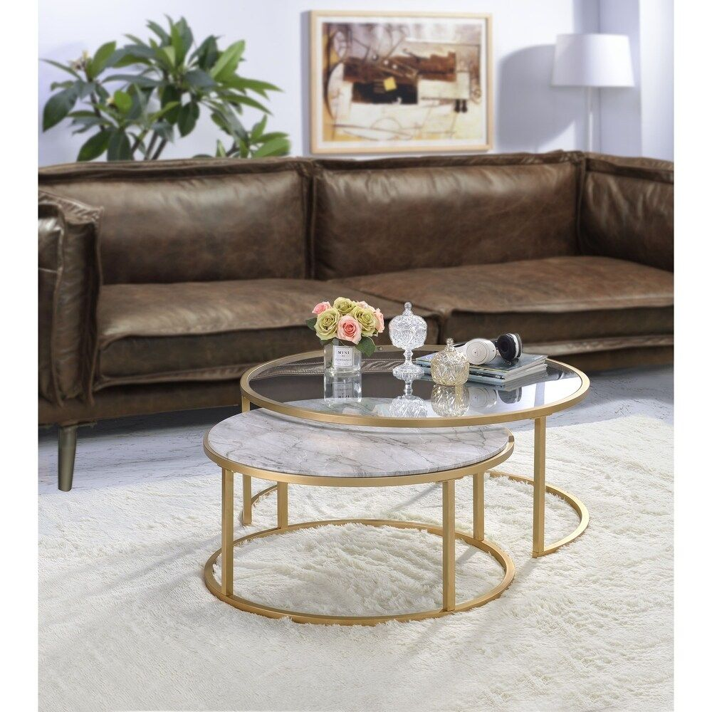 Overstock Com Online Shopping Bedding Furniture Electronics Jewelry Clothing More Nesting Coffee Tables Coffee Table Gold Nesting Coffee Table [ 1000 x 1000 Pixel ]