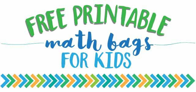 Free Printable Math Bag Games For Kids | Free printable, Maths and ...