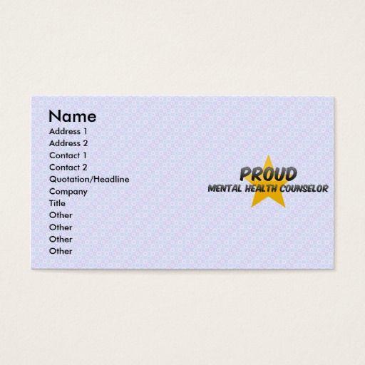 Proud mental health counselor business card mental health proud mental health counselor business card colourmoves