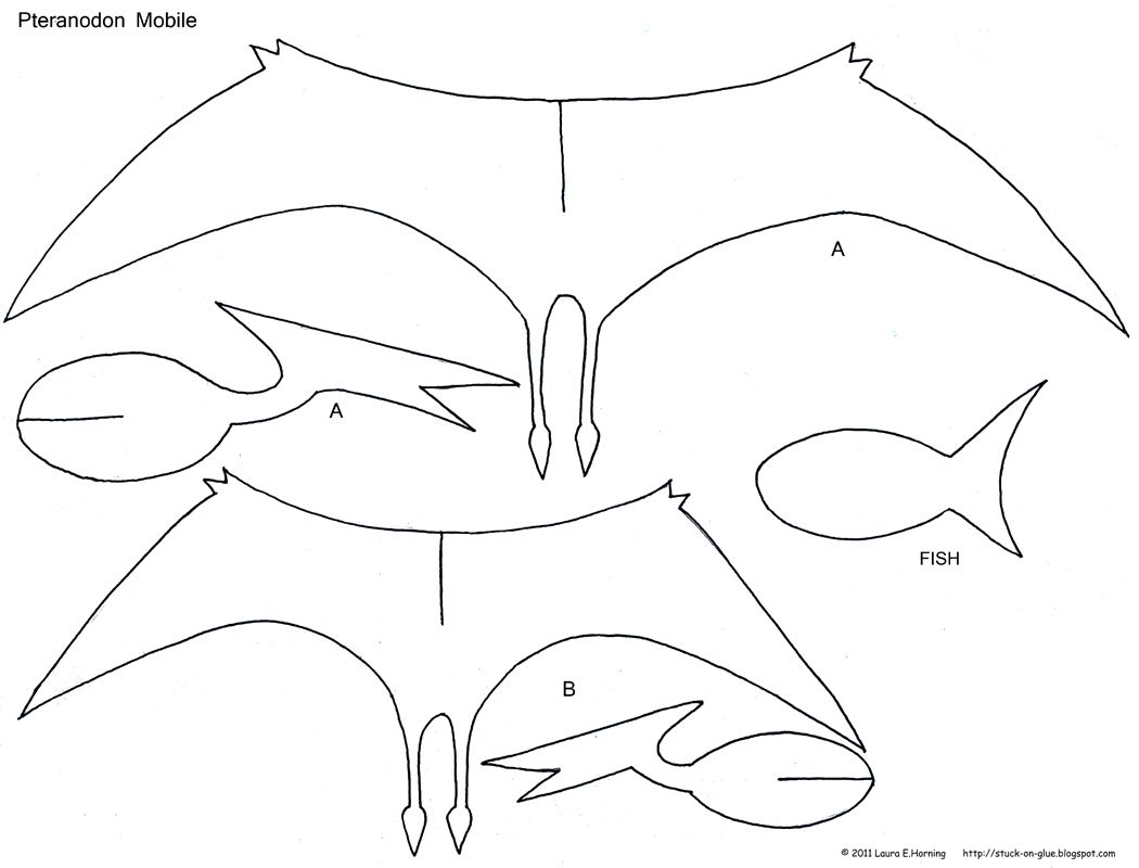 Preschool Crafts For Kids Pteranodon Dinosaur Mobile