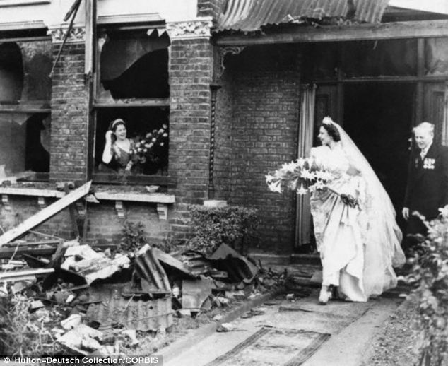 Ena Squire-Brown, an international dancer famed for her Dove Dance, leaves her recently bombed home for St George's Church in Forest Hill, to marry Royal Air Force flying officer J.C. Martin in 1940