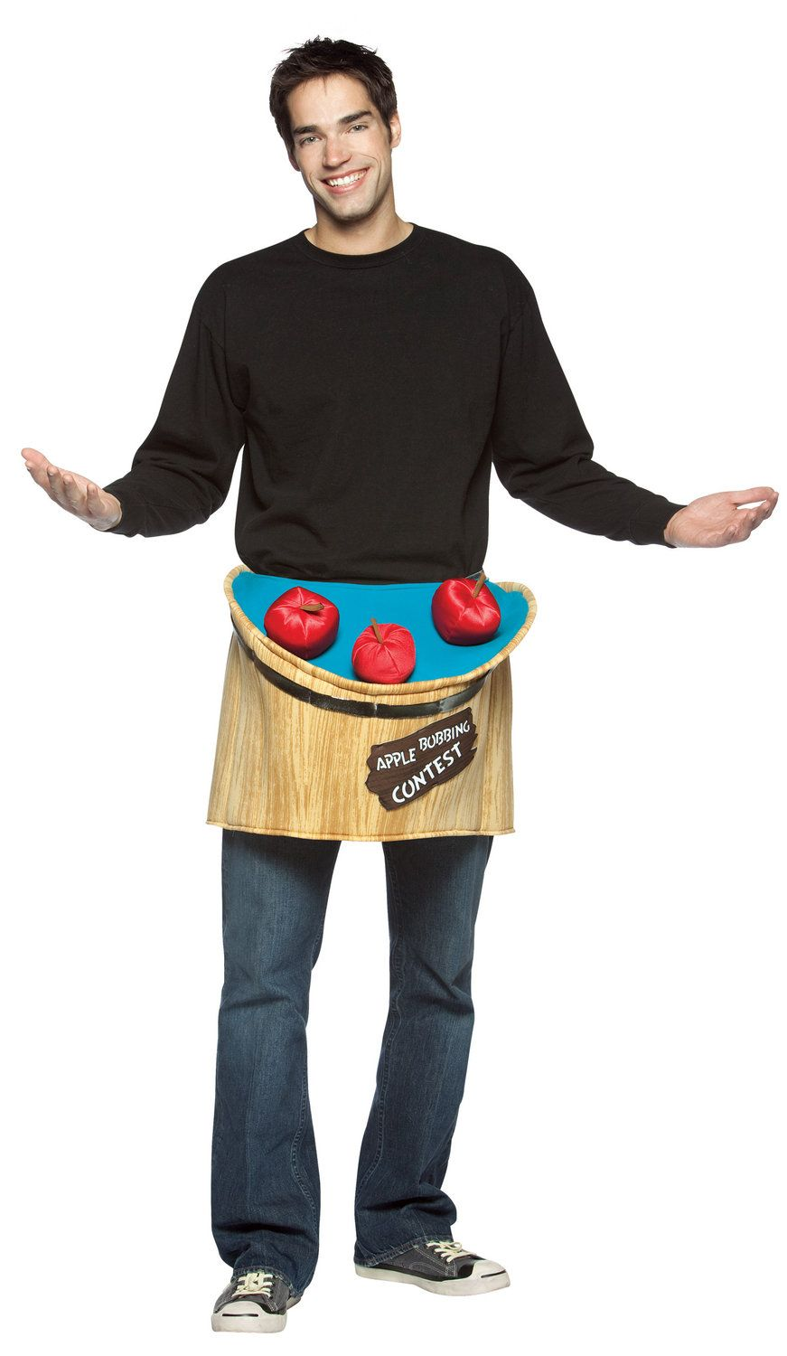 Bobbing For Apples Funny Mens Halloween Costume - Mr. Costumes - Apple costume, Bobbing for ...