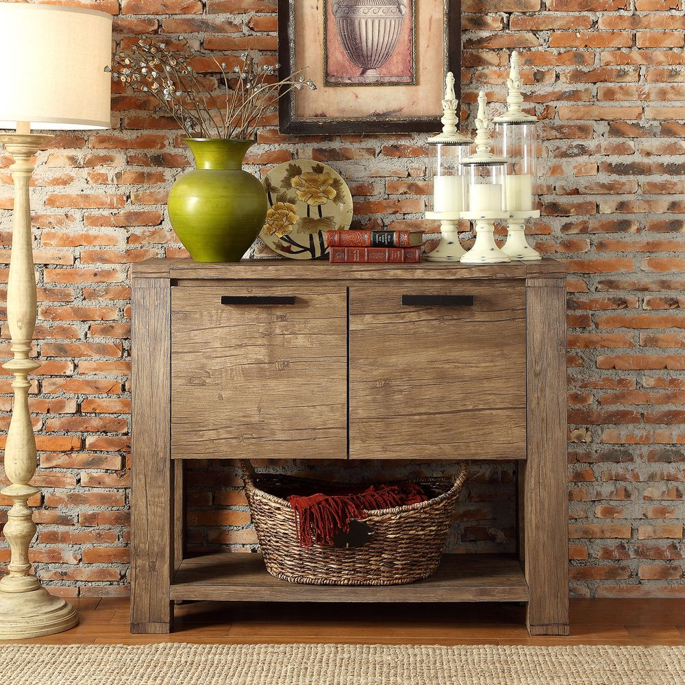 INSPIRE Q Catalpa Walnut Finish Weathered Console | Overstock Shopping -  Big Discounts on INSPIRE
