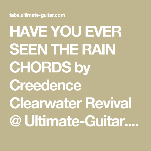 Pin by Sue Hart on Guitar chords | Pinterest | Creedence clearwater ...