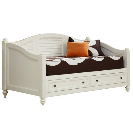 Found it at Wayfair - Bermuda Storage Daybed in Brushed White  - Daybed Images