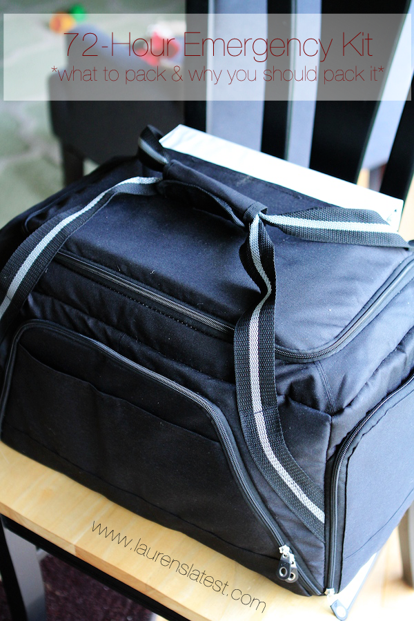 72-Hour Emergency Kits...what to pack and why to pack it. This is a great list!!