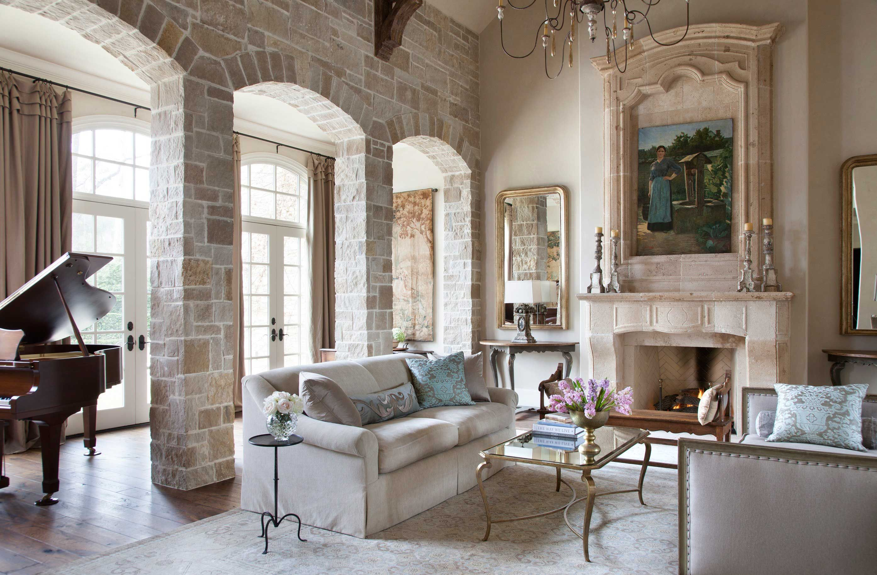 appealing french country style living room | Houston Home with Country French Appeal | French country ...