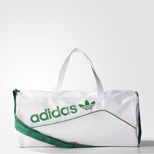 adidas Perforated Duffel Bag - White  f6e447e5fd9ef